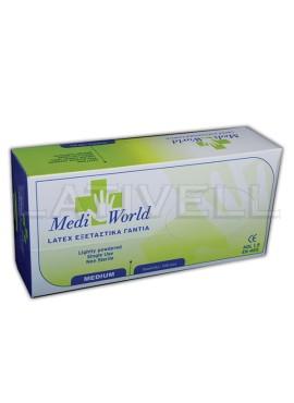 Γάντια Latex (Λευκά) 100τμχ