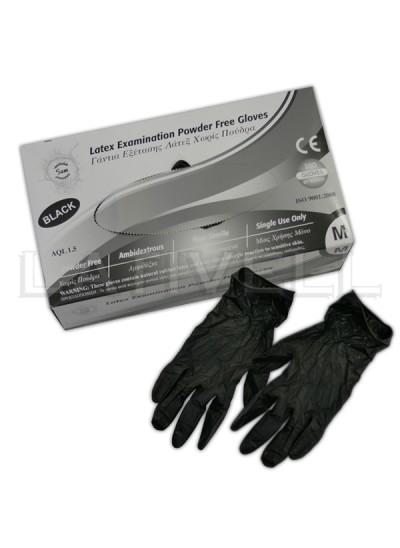 Γάντια νιτριλίου (Μαύρα) 100τμχ χωρίς πούδρα